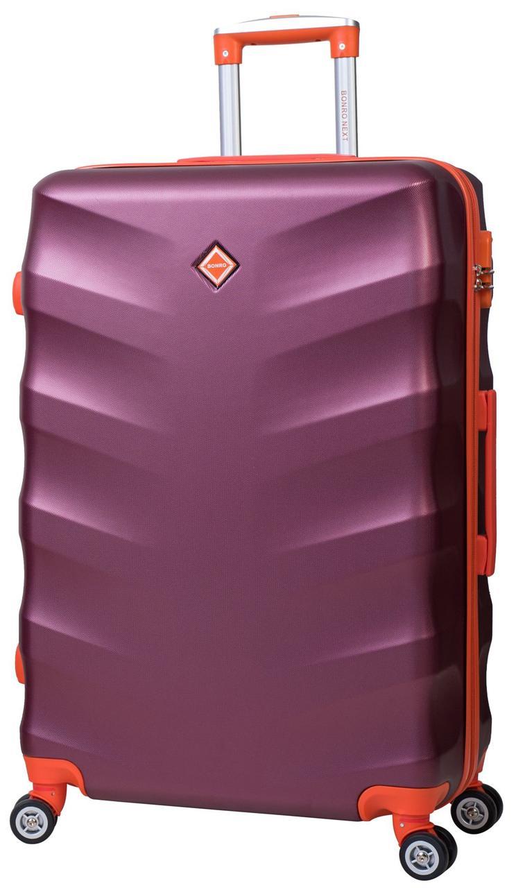 Дорожный чемодан на колесах Bonro Next Бордовый Большой