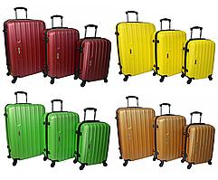 Набір дорожніх валіз на колесах Siker Line набір 3 штуки