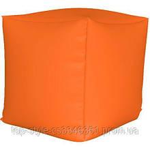 Пуф куб Оранжевый S - 33х33х33 кресло-мешок