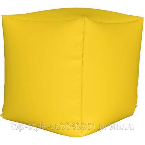 Пуф куб Желтый S - 33х33х33 кресло-мешок