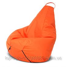 Кресло груша оранжевая 60х90 кресло мешок оранжевый, кресло пуф, бескаркасная мебель