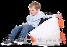 Кресло-груша Пингвин Черный Детская 60х90 кресло-мешок
