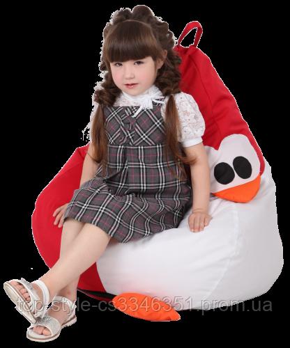 Кресло-груша Королевский Пингвин Красный Детская 60х90 кресло-мешок
