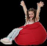 Кресло груша в красном цвете 60х90 кресло мешок красный, кресло пуф, фото 2