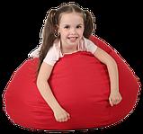 Кресло груша в красном цвете 60х90 кресло мешок красный, кресло пуф, фото 3