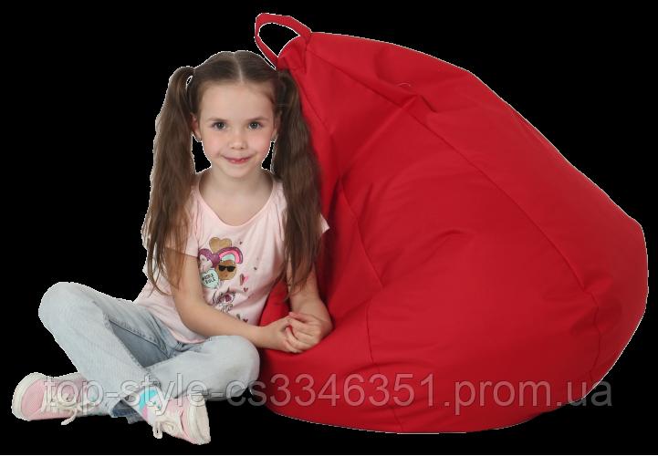 Кресло груша в красном цвете 60х90 кресло мешок красный, кресло пуф
