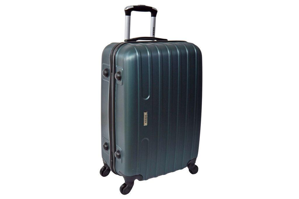 Дорожный чемодан на колесах Siker Line Изумрудный Средний