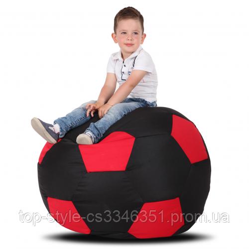 Кресло-мяч Черный с красным Детский 70х70 кресло-мешок