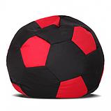 Кресло-мяч Черный с красным Детский 70х70 кресло-мешок, фото 2