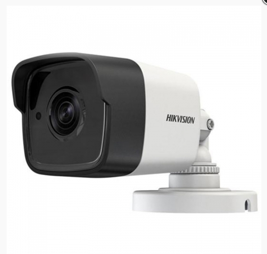 Видеокамера Hikvision для видеонаблюдения  5МП Turbo HD DS-2CE16H0T-ITFS с встроенным микрофоном Бело-Черный