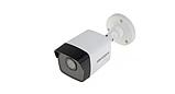 Видеокамера Hikvision для видеонаблюдения  5МП Turbo HD DS-2CE16H0T-ITFS с встроенным микрофоном Бело-Черный, фото 2
