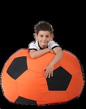 Кресло-мяч Оранжевый с черным Детский 70х70 кресло-мешок