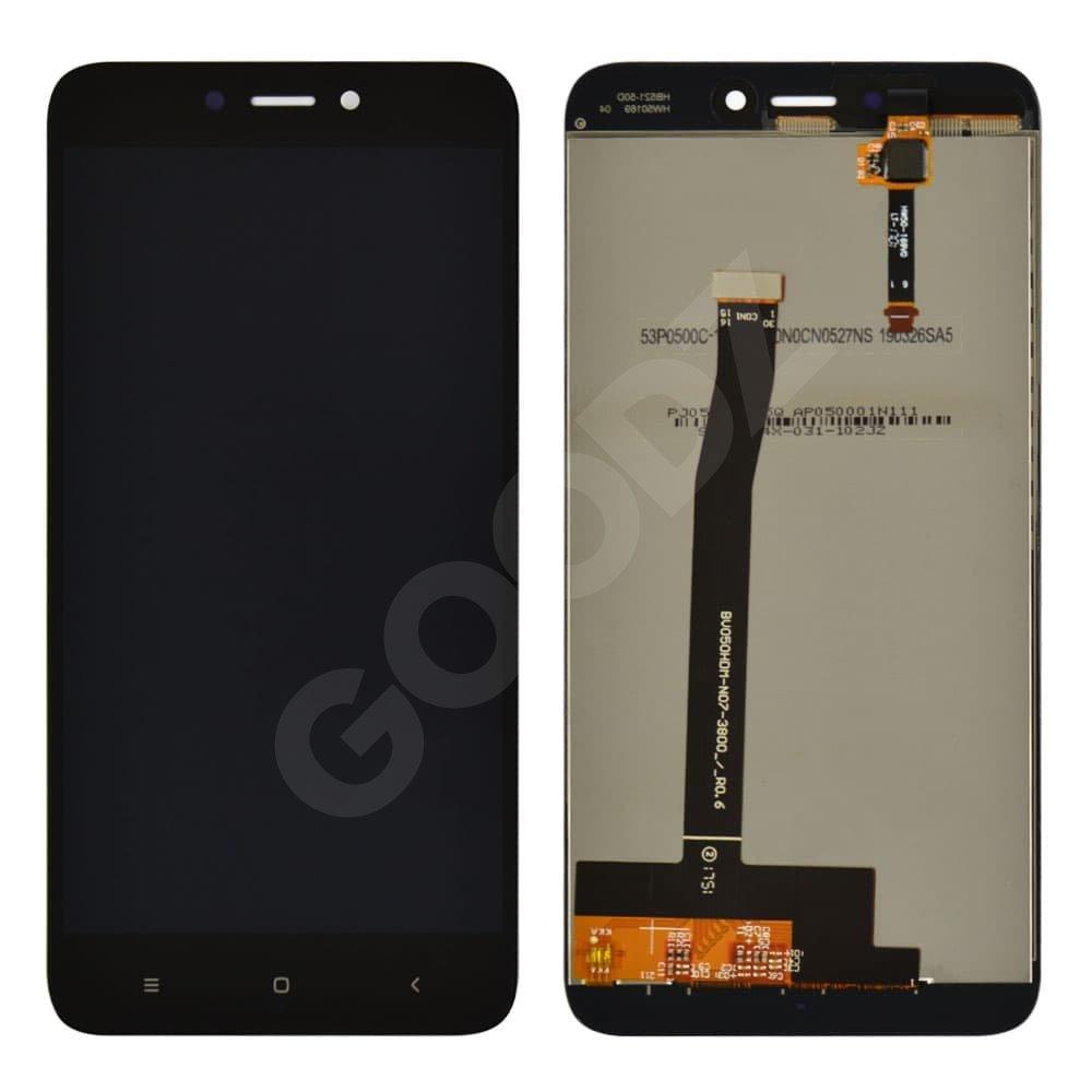 Дисплей для Xiaomi Redmi 4X с тачскрином в сборе, цвет черный, оригинал с замененным стеклом