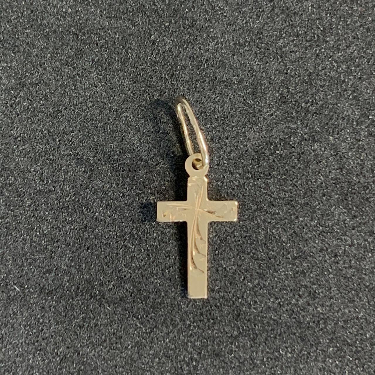 Золотой крест БУ 585 пробы, вес - 0.25 г. Наложенный платеж
