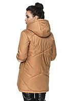 Подовжена куртка Агата Пісочний Розмір 56