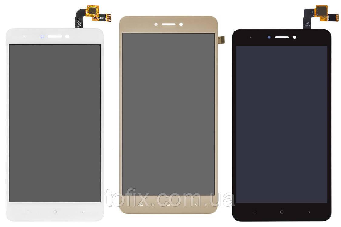 Дисплей для Xiaomi Redmi Note 4X, Snapdragon, модуль в сборе (экран и сенсор), оригинал