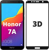 Защитное стекло 3D для Honor 7a Black