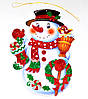 Новогоднее украшение для декора окон, стен Снеговик