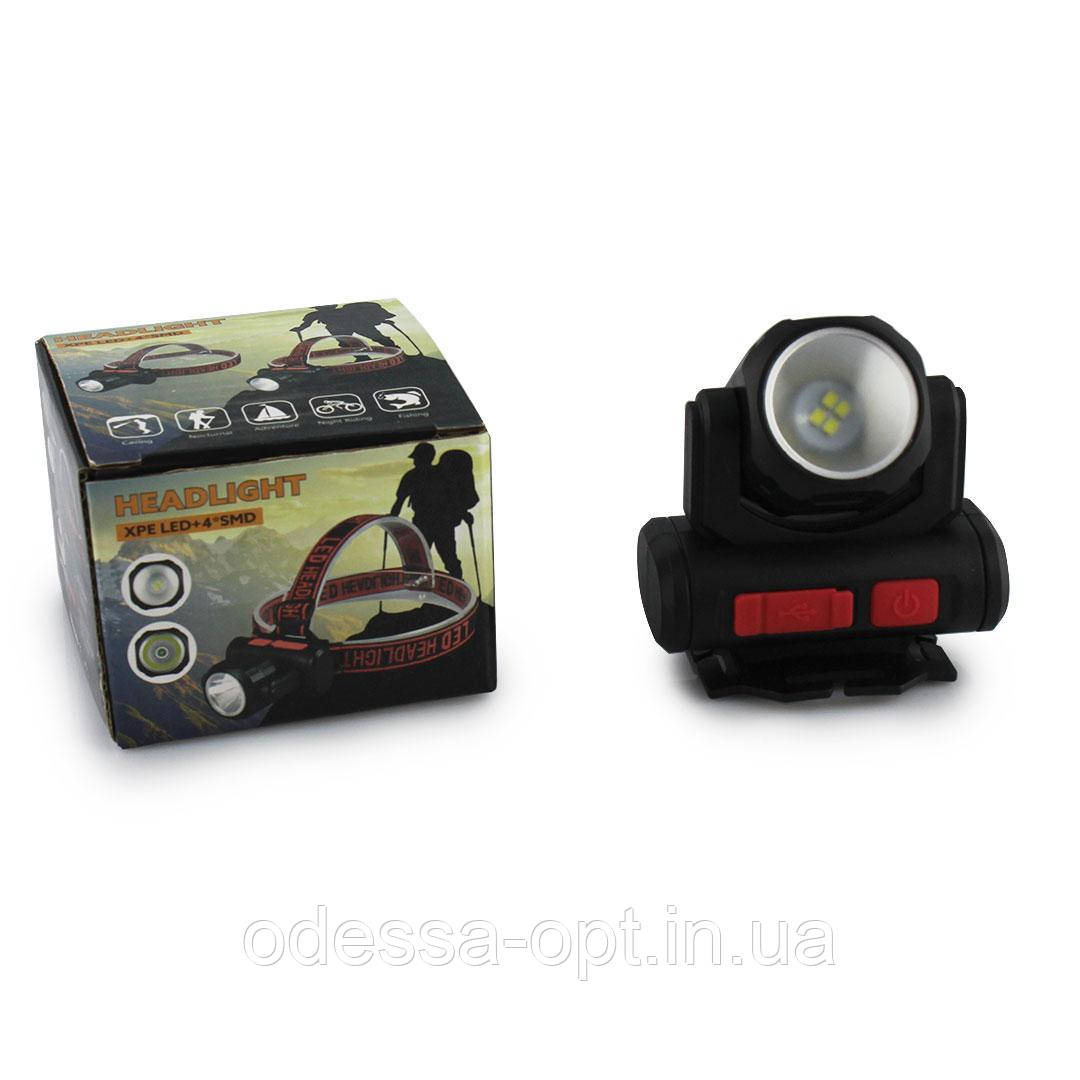 Налобный фонарь BL 2001 4SMD+XPE USB CHARGE