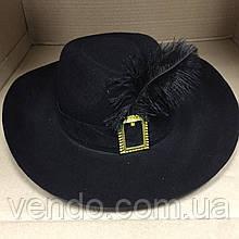 Шляпа с пером Мушкетера/гвардейца Кардинала/Кота в сапогах