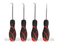 Набор шил и крюков с резиновой ручкой 4 пр. 904U4F