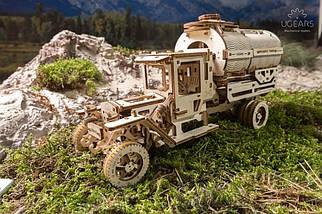 """Грузовик """"Автоцистерна"""" UGears (594 детали) - механический деревянный 3D пазл конструктор, фото 3"""