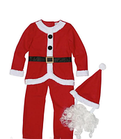 Дитячий карнавальний Костюм Діда Мороза, костюм Санта Клауса