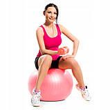 Мяч для фитнеса (фитбол) Springos 75 см Anti-Burst FB0012 Pink, фото 4