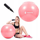 Мяч для фитнеса (фитбол) Springos 75 см Anti-Burst FB0012 Pink, фото 7