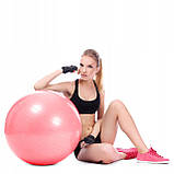 Мяч для фитнеса (фитбол) Springos 75 см Anti-Burst FB0012 Pink, фото 10