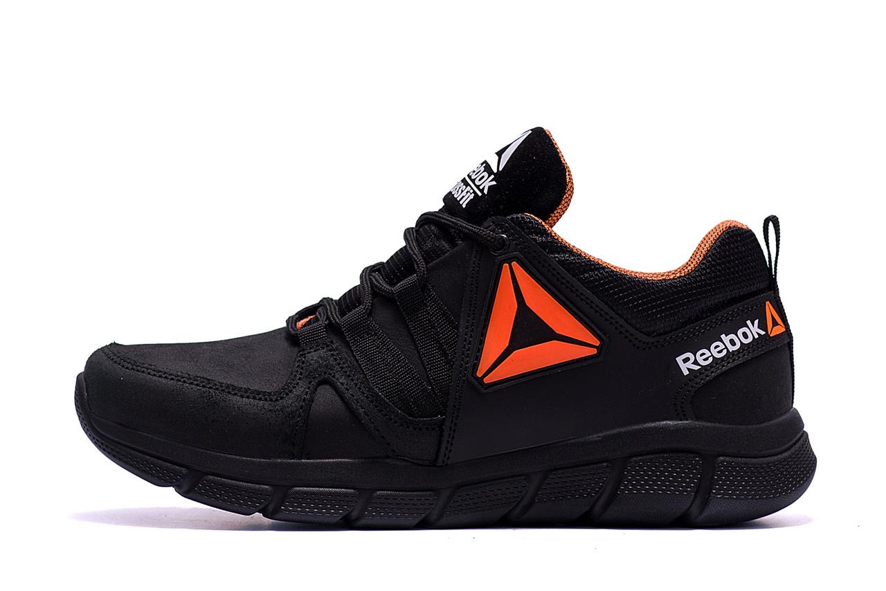 Мужские кожаные кроссовки Reebok Classic Tracking  Orange (реплика)