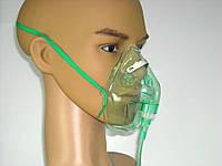 Маска киснева для дорослих на резинці, алюмінієва пластина з трубкою, довжина 2,1 м Avion Medical (Польща), фото 1