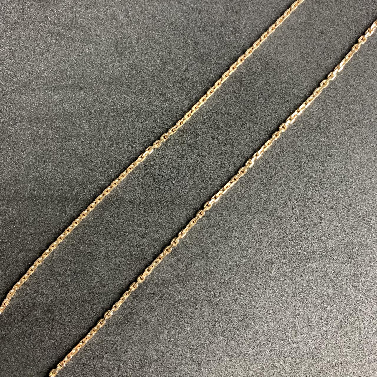 Золотая цепочка Б/У на шею 583 пробы, якорное плетение, вес 11.69 г. Продажа из ломбарда