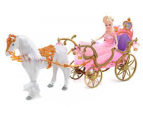 Детский игровой набор Карета 209A | Набор кукла, лошадка, карета