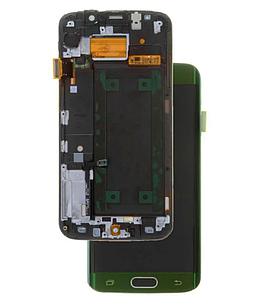 Модуль для Samsung S6 EDGE, Samsung G925F, зеленый, дисплей + сенсор