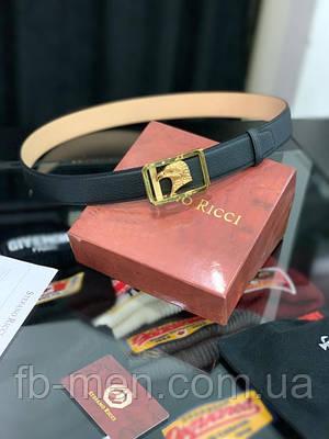 Ремень Stefano Ricci черный золотая пряжка орел Пояс мужской Стефано Риччи кожаный классический