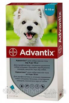 Адвантикс Bayer Advantix капли для собак весом 4-10 кг 4 пипетки