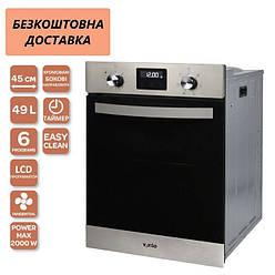Духова шафа Ventolux MUNCHEN 6 TC (X) Нержавіюча сталь, Чорне Скло