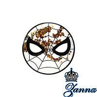 Аппликация пришивная силиконовая Аквариум Spiderman 16.5*16.5 см, фото 1