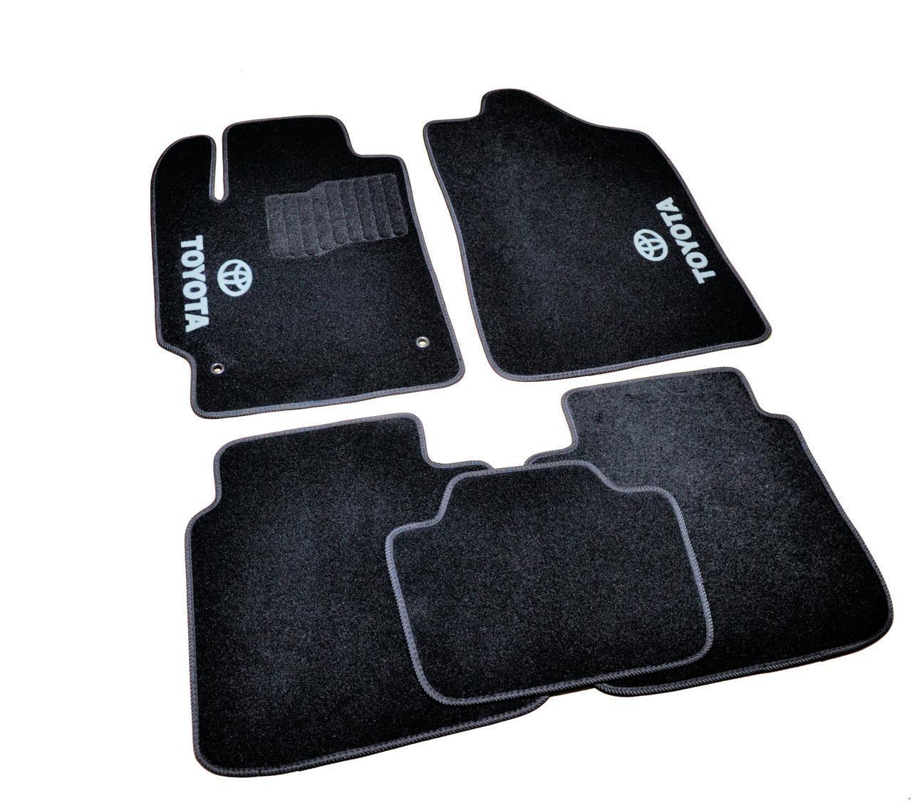 Ковры салона Toyota Camry 2006-2011 черные, 5шт ворсовые