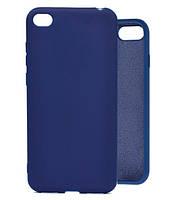 Чехол Silicone Case Full для Honor 7a Blue