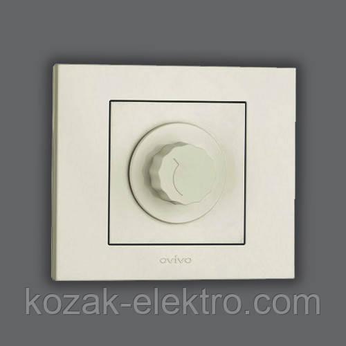 GRANO Выключатель реостатный (димер) 800 Вт цвет белый
