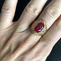 Золотое кольцо с рубином 583 пробы, вес 5.30 г. Б/у. Продажа по Украине, фото 2