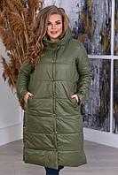 Зимнее женское пальто большого размера