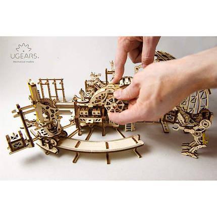 Фабрика роботов UGears (598 деталей) - механический деревянный 3D пазл конструктор, фото 2