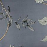 Комплект постельного белья сатин серый Цветы Koloco, фото 3