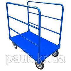 Тележка платформенная в магазин 800х1250 мм РПТ-011Д-200 М, платформенная тележка для длинномерных грузов