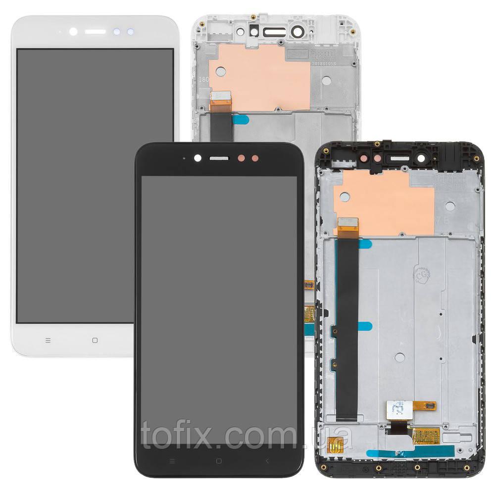 Дисплей для Xiaomi Redmi Note 5A Prime (3/32 gb), модуль в зборі (екран і сенсор), з рамкою, оригінал