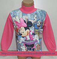 Толстовка на девочку розовая ( 3-х нитка начес) Микки2