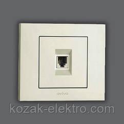 GRANO Розетка телефонная цвет белый